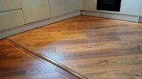Diagonal floor fitting to match the existing Karndean floor