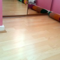 Glued laminate floor