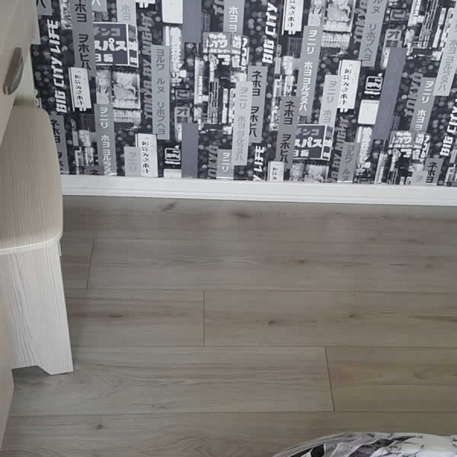 A budget floor - ideal for a spare bedroom